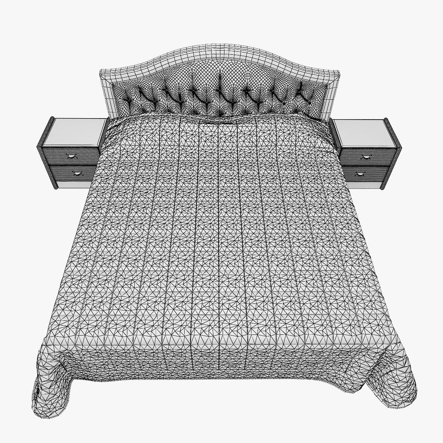 Letto in pelle con due comodini camera da letto royalty-free 3d model - Preview no. 8