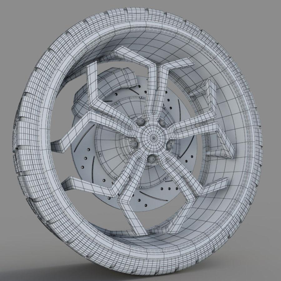 Car Wheel royalty-free 3d model - Preview no. 3