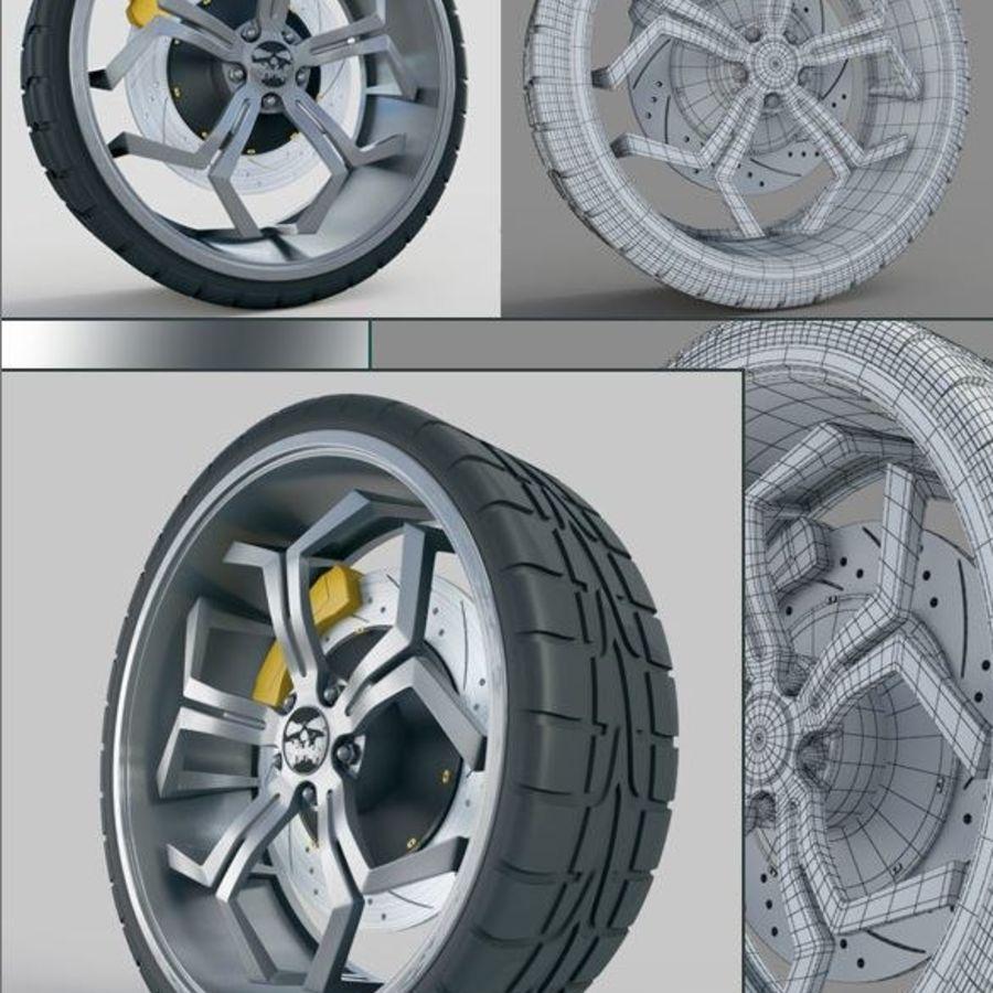 Car Wheel royalty-free 3d model - Preview no. 1