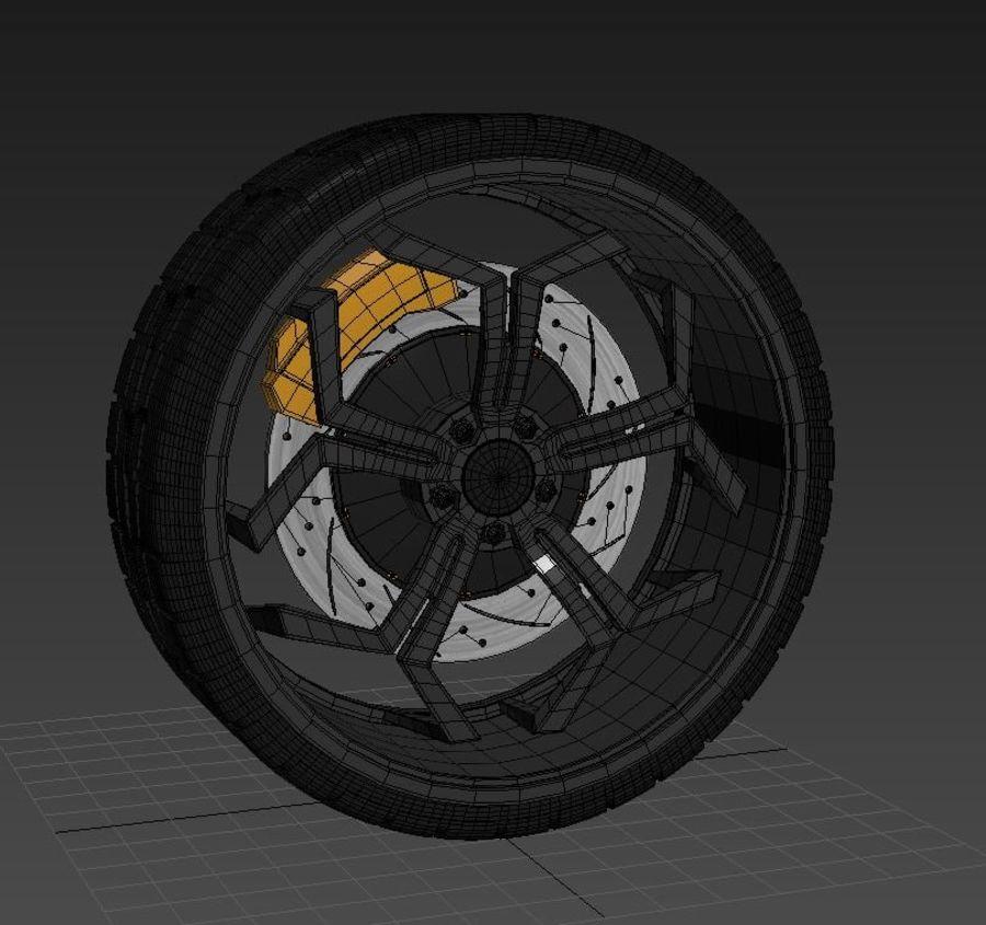 Car Wheel royalty-free 3d model - Preview no. 6