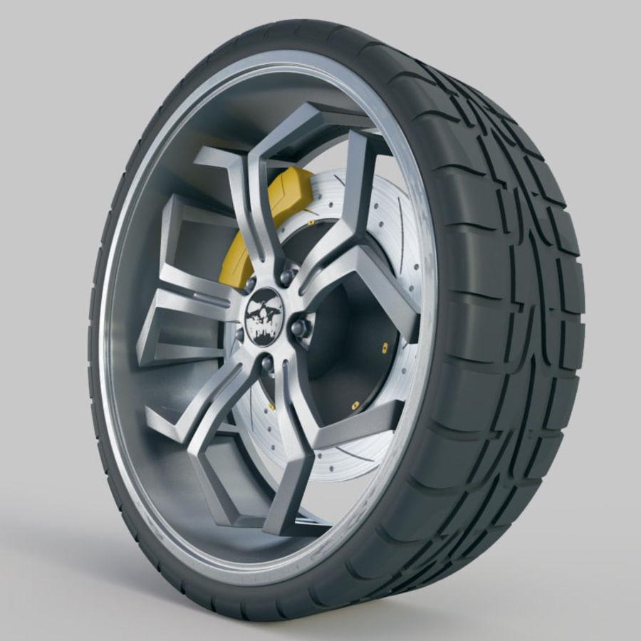 Car Wheel royalty-free 3d model - Preview no. 4