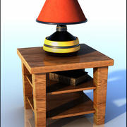 Lamp Table and Book 3d model