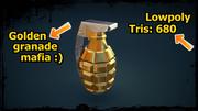 Gold granade 3d model