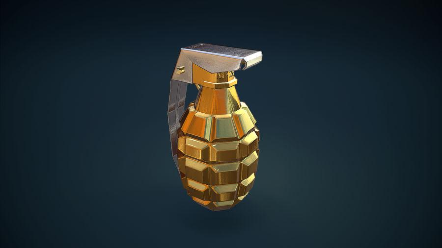 Granata d'oro royalty-free 3d model - Preview no. 2
