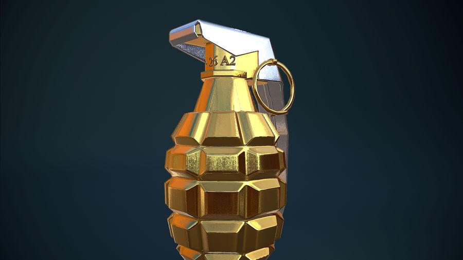 Granata d'oro royalty-free 3d model - Preview no. 8