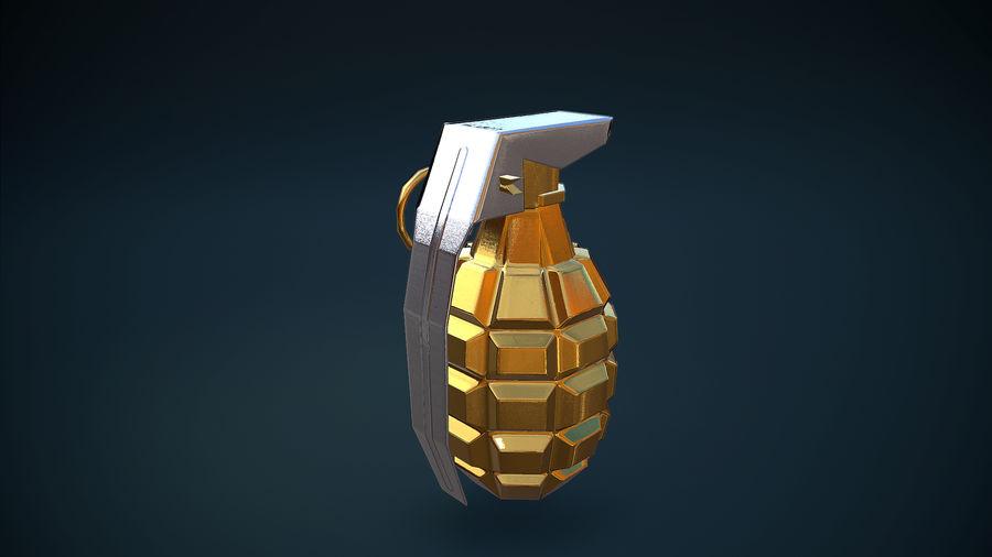 Granata d'oro royalty-free 3d model - Preview no. 7