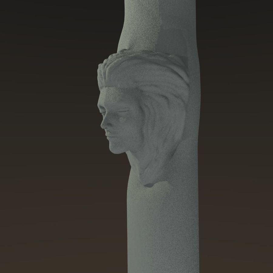 Cabeça fêmea da coluna royalty-free 3d model - Preview no. 1