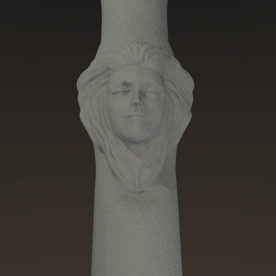 Cabeça fêmea da coluna royalty-free 3d model - Preview no. 5
