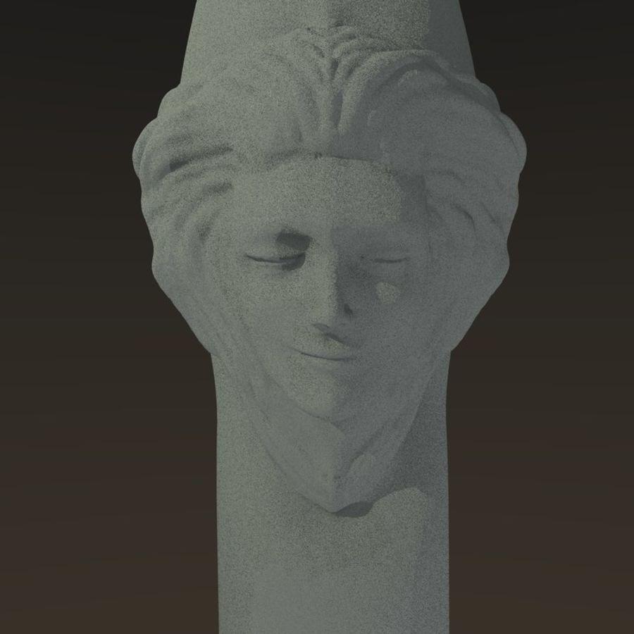 Cabeça fêmea da coluna royalty-free 3d model - Preview no. 3