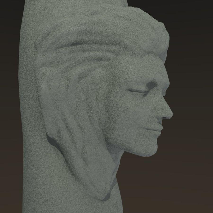 Cabeça fêmea da coluna royalty-free 3d model - Preview no. 4