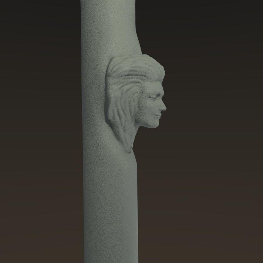 Cabeça fêmea da coluna royalty-free 3d model - Preview no. 2
