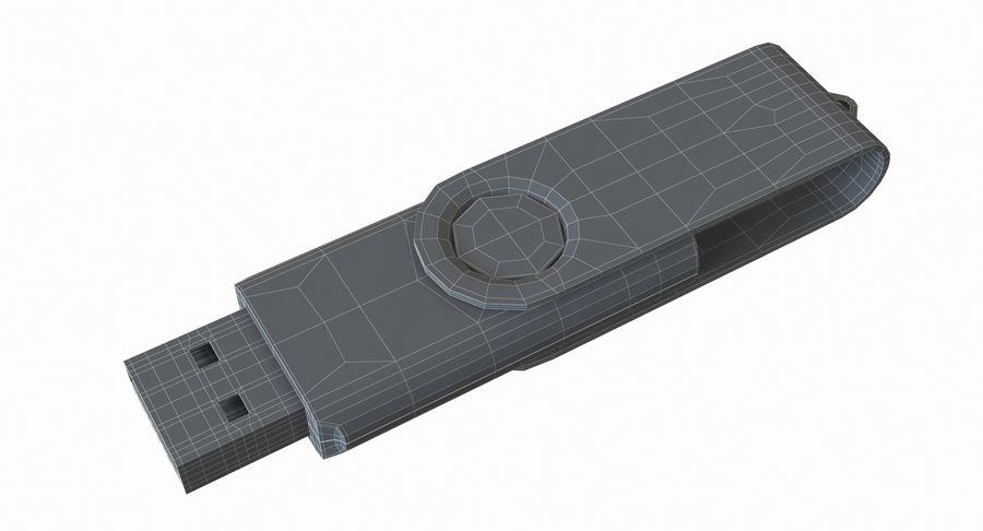 USB sürücüsü royalty-free 3d model - Preview no. 17