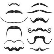 Colección bigote modelo 3d