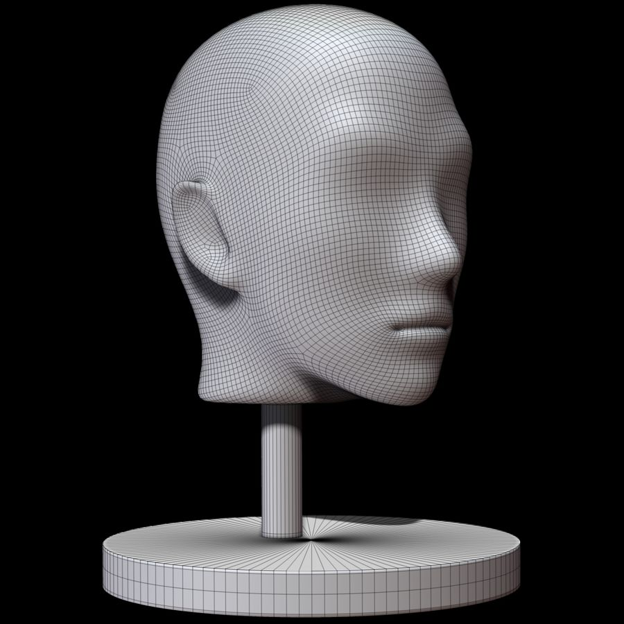 Mannequin head royalty-free 3d model - Preview no. 10