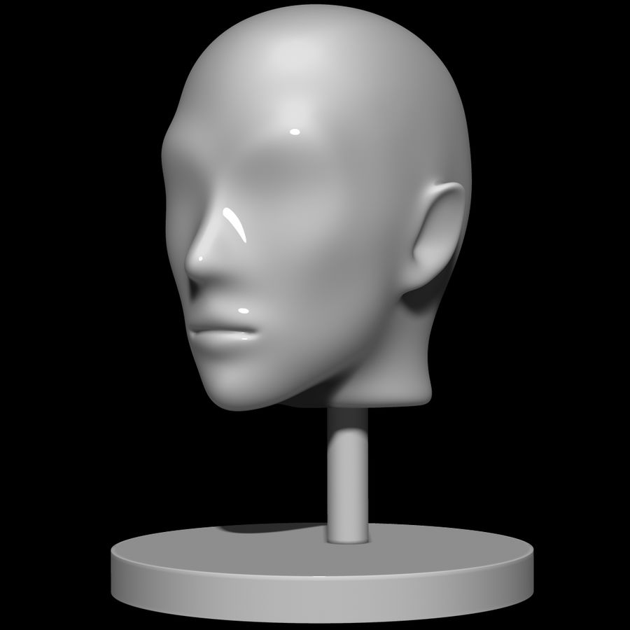 Mannequin head royalty-free 3d model - Preview no. 4