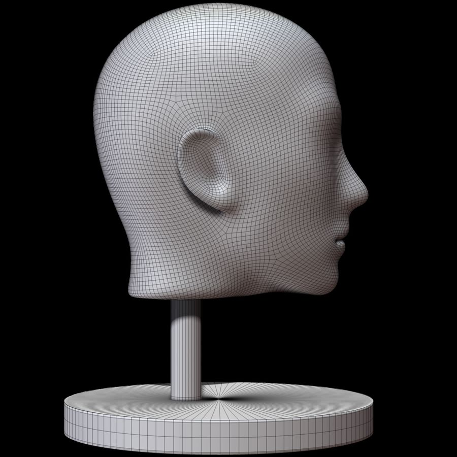 Mannequin head royalty-free 3d model - Preview no. 9