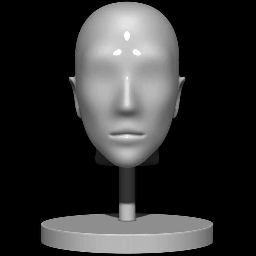 Mannequin head royalty-free 3d model - Preview no. 1