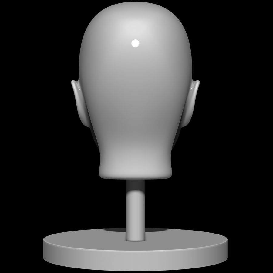 Mannequin head royalty-free 3d model - Preview no. 7