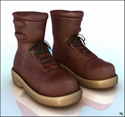 Leather Boots Cartoon 3d model