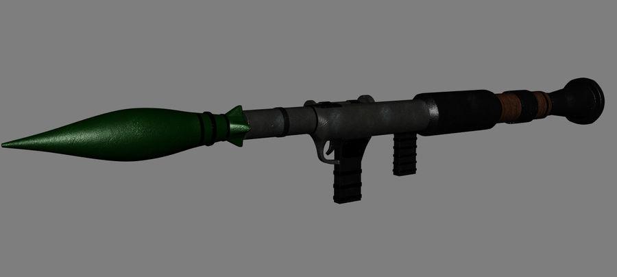 RPG Bazooka royalty-free 3d model - Preview no. 6