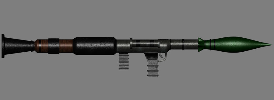 RPG Bazooka royalty-free 3d model - Preview no. 3