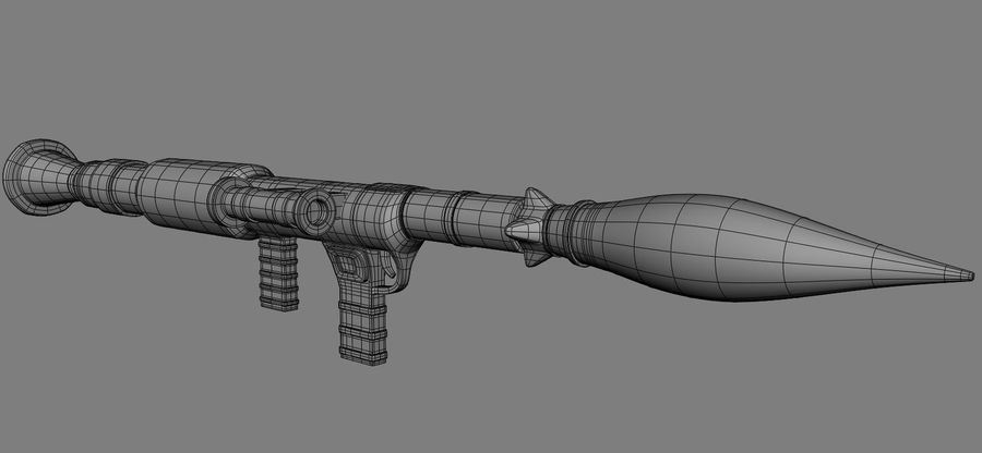 RPG Bazooka royalty-free 3d model - Preview no. 7