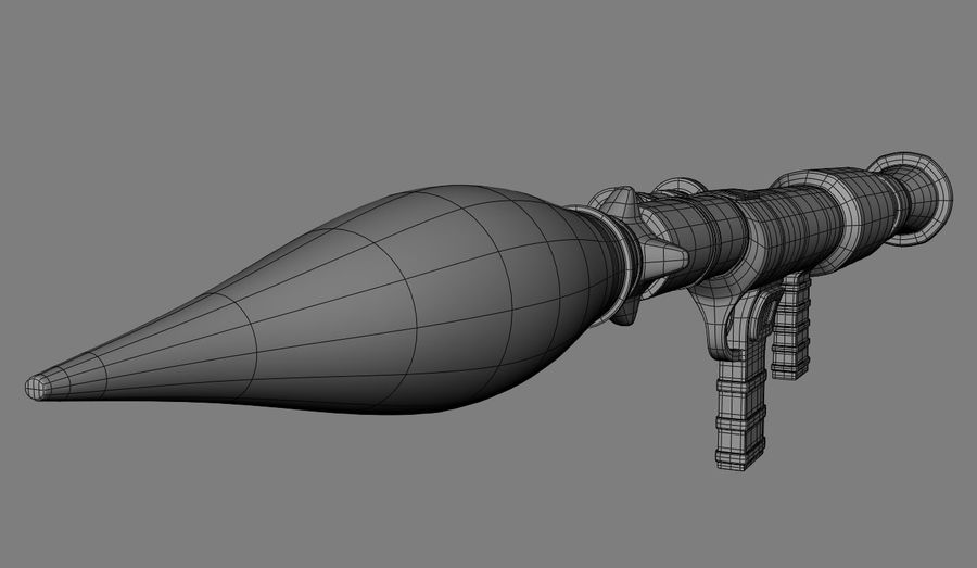 RPG Bazooka royalty-free 3d model - Preview no. 8