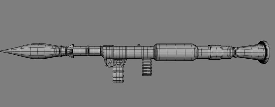 RPG Bazooka royalty-free 3d model - Preview no. 9