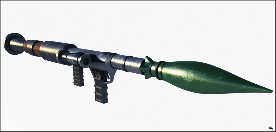 RPG Bazooka royalty-free 3d model - Preview no. 1