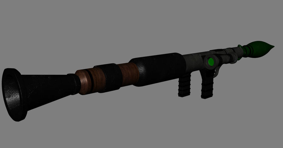 RPG Bazooka royalty-free 3d model - Preview no. 2