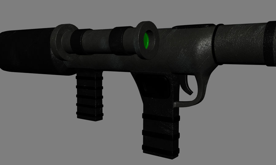 RPG Bazooka royalty-free 3d model - Preview no. 5