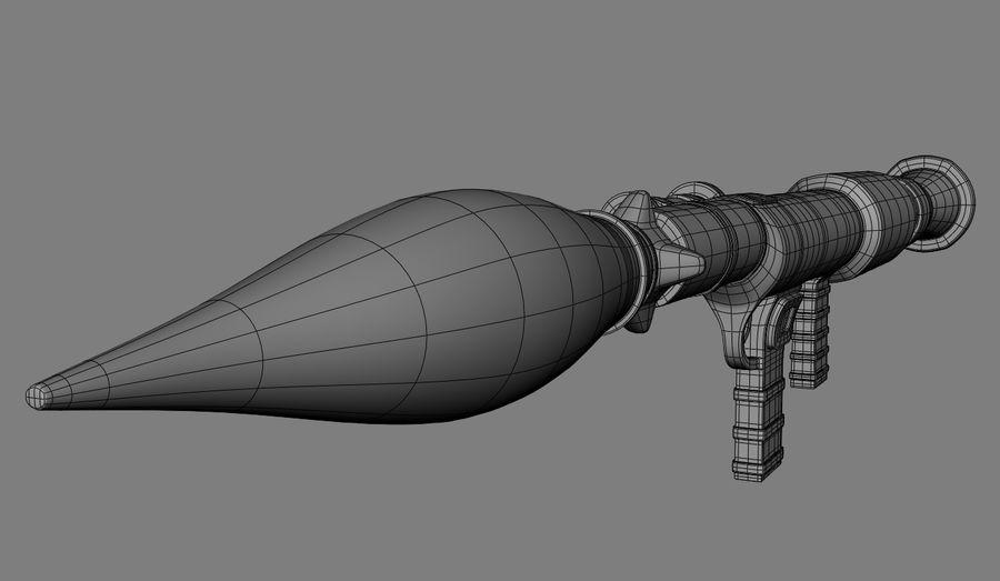 RPG Bazooka royalty-free 3d model - Preview no. 8