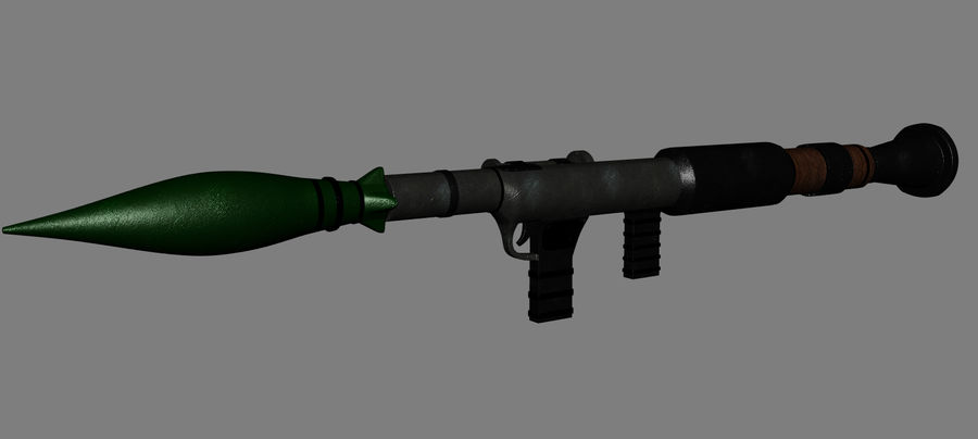 RPG Bazooka royalty-free 3d model - Preview no. 6