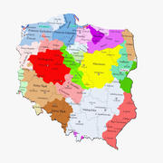 Kaart van Polen 3d model