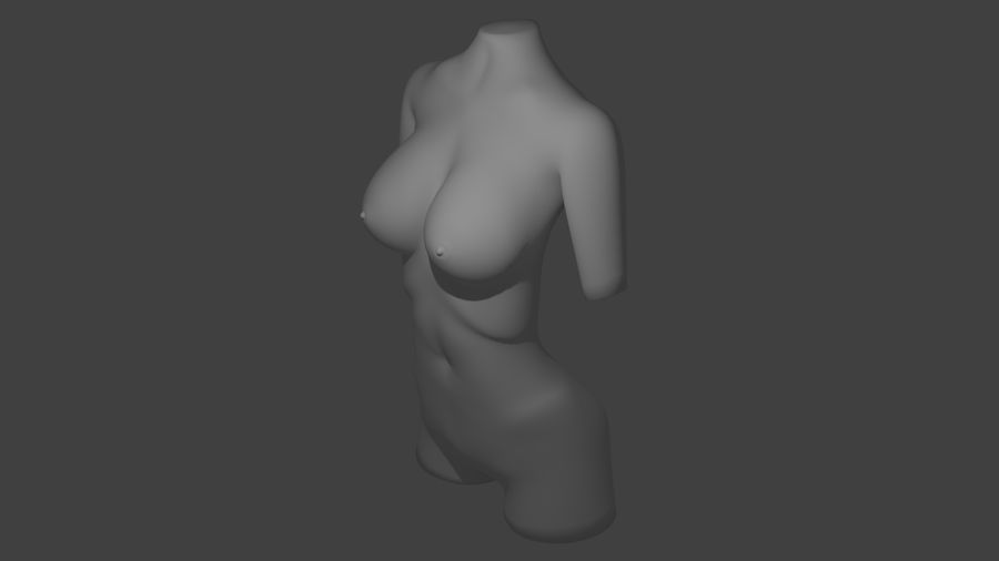 Kadın vücudu royalty-free 3d model - Preview no. 1