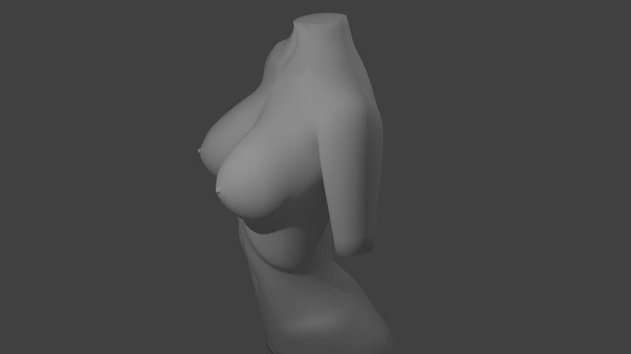 Kadın vücudu royalty-free 3d model - Preview no. 2