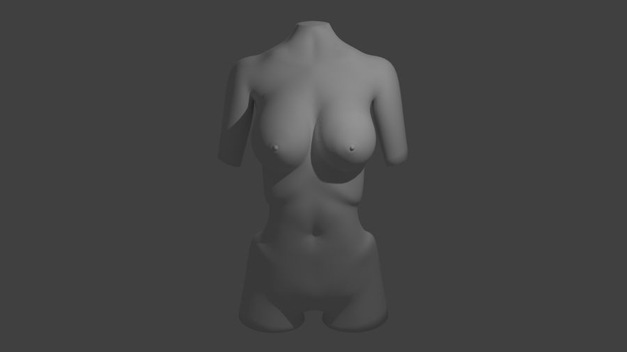 Kobiece Ciało royalty-free 3d model - Preview no. 5