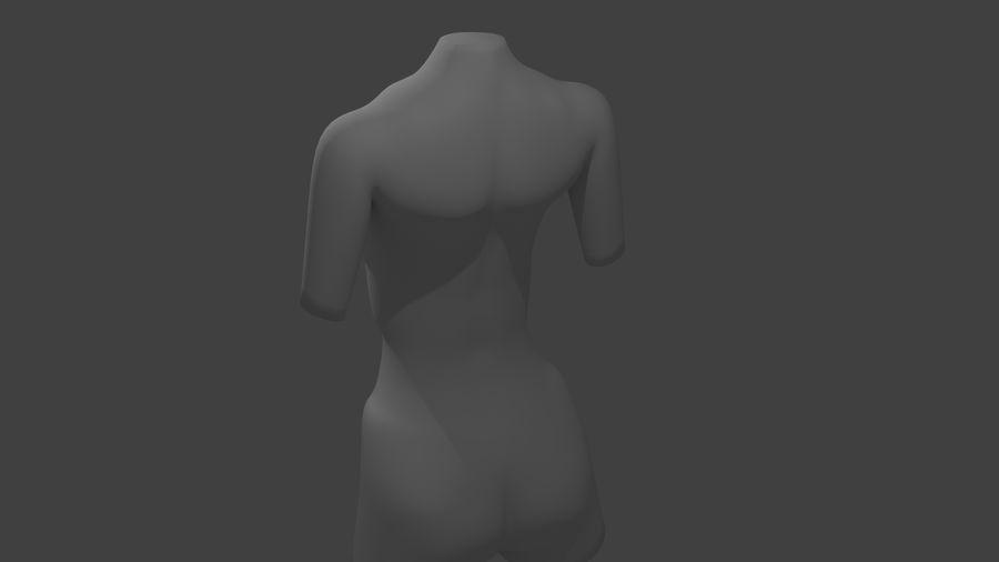 Kadın vücudu royalty-free 3d model - Preview no. 4