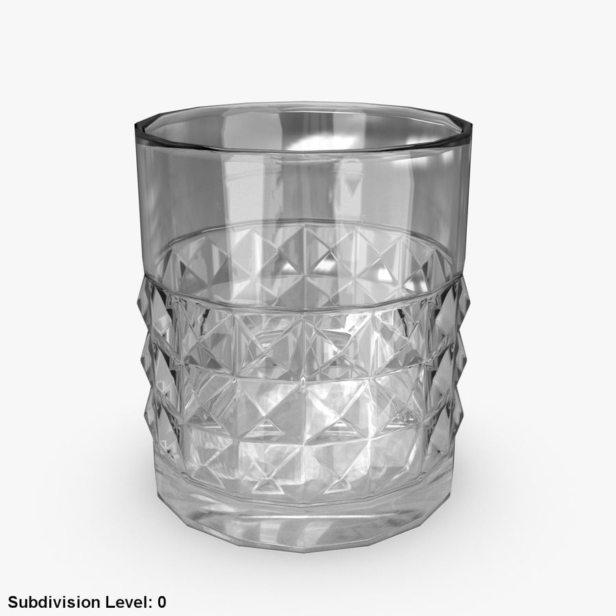 Whiskey Glass 05 royalty-free 3d model - Preview no. 2