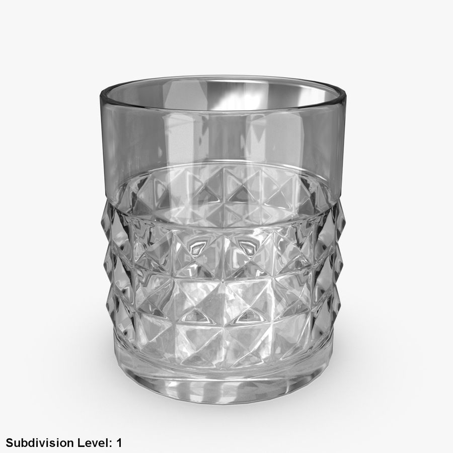Whiskey Glass 05 royalty-free 3d model - Preview no. 4