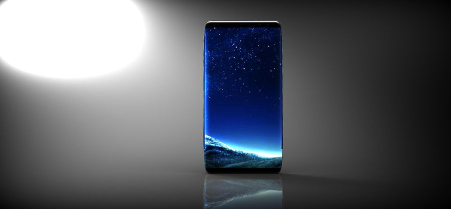 samsung galaxy S8 mobile royalty-free 3d model - Preview no. 7