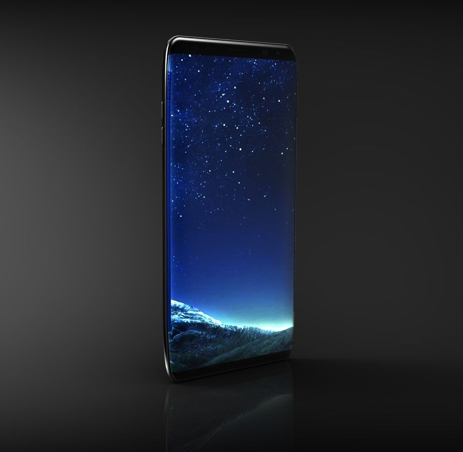 samsung galaxy S8 mobile royalty-free 3d model - Preview no. 1