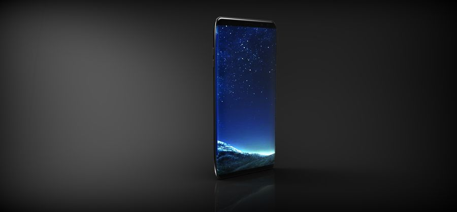 samsung galaxy S8 mobile royalty-free 3d model - Preview no. 3