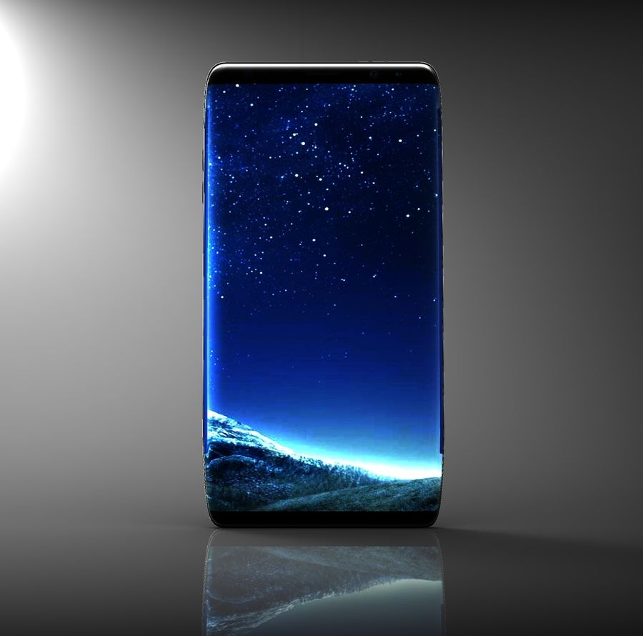 samsung galaxy S8 mobile royalty-free 3d model - Preview no. 2
