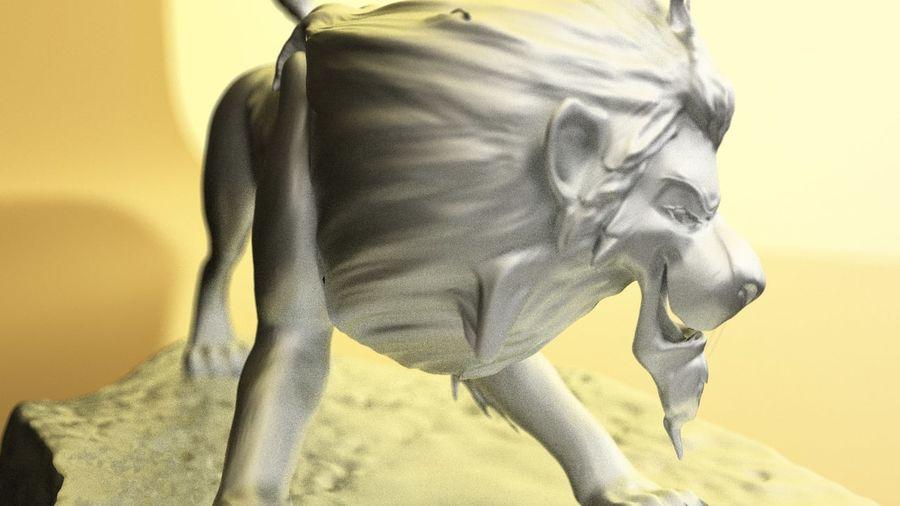 Scar Lion King royalty-free 3d model - Preview no. 2