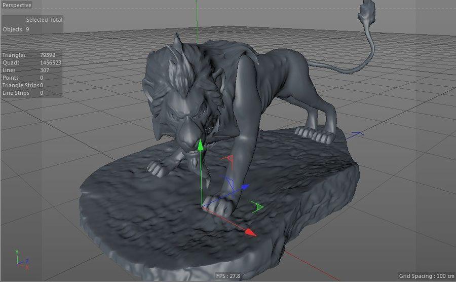 Scar Lion King royalty-free 3d model - Preview no. 5