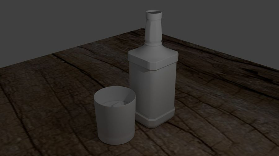 Whiskey bottle and glass royalty-free 3d model - Preview no. 2