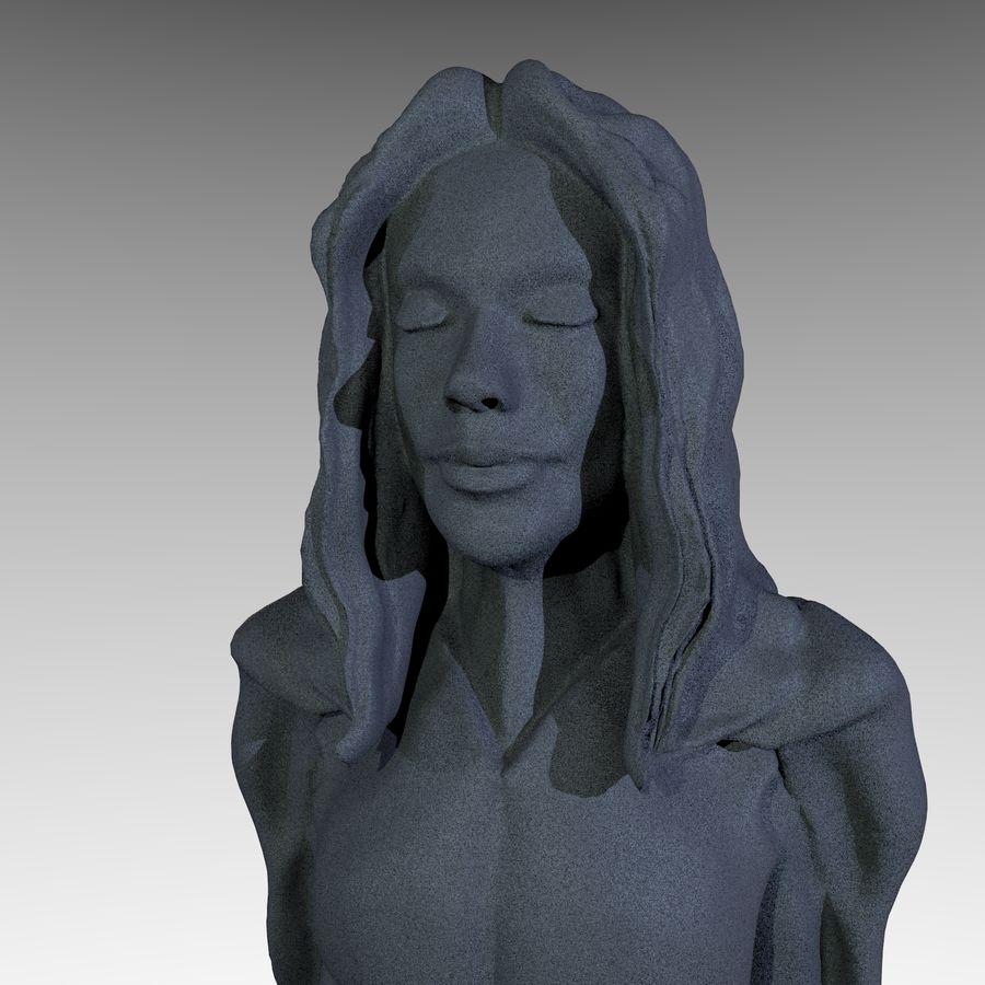 Estátua - monge fêmea royalty-free 3d model - Preview no. 1
