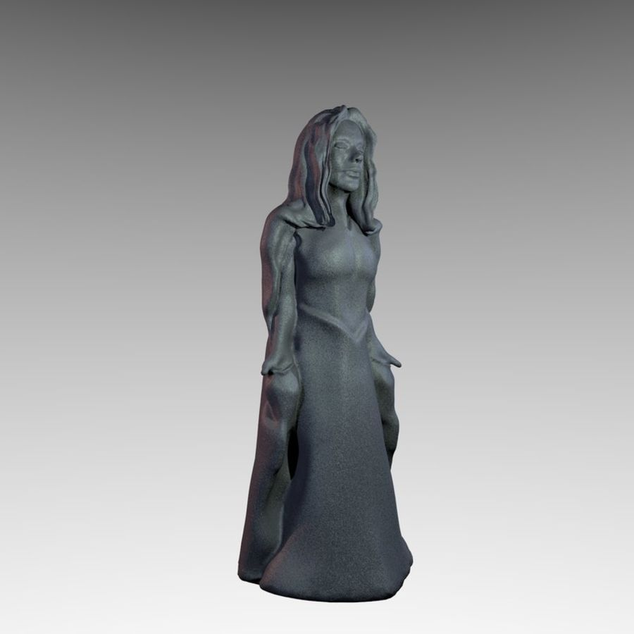 Estátua - monge fêmea royalty-free 3d model - Preview no. 6