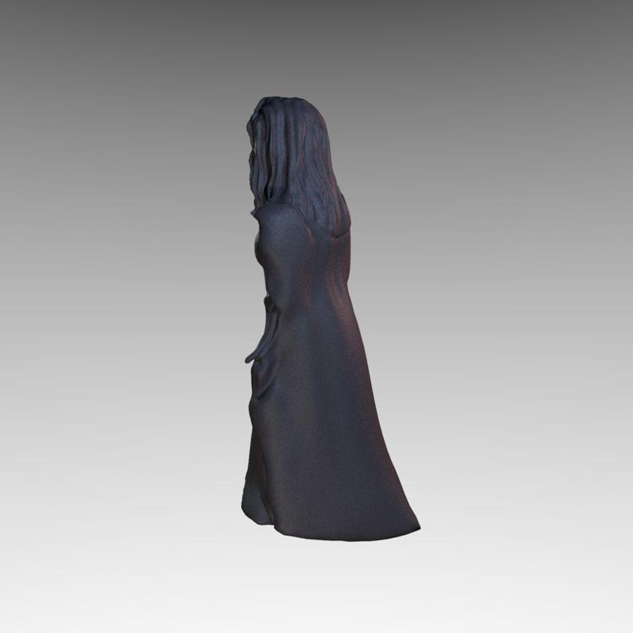 Estátua - monge fêmea royalty-free 3d model - Preview no. 5
